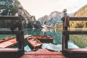Famous Lago di Braies (Pragser Wildsee) in Italy